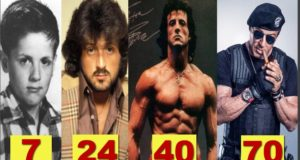 Sylvester Stallone ★Transformation From 6 To 70 Years Old★