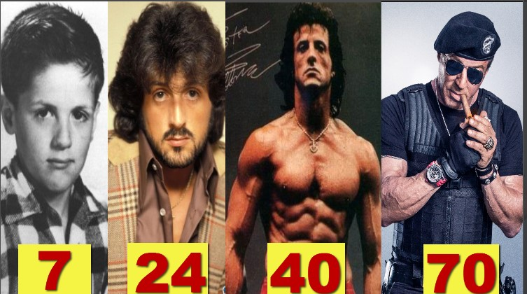 Photo of Sylvester Stallone ★Transformation From 6 To 70 Years Old★