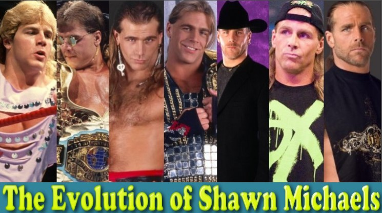 Photo of WWE Shawn Michaels (Mr. WrestleMania) Evolution From 1984 To 2017