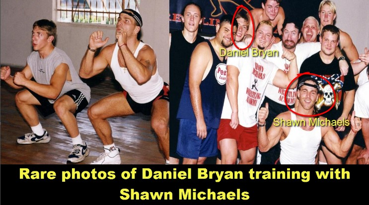 Photo of Daniel Bryan training with Shawn Michael's Rare Photos [HD]