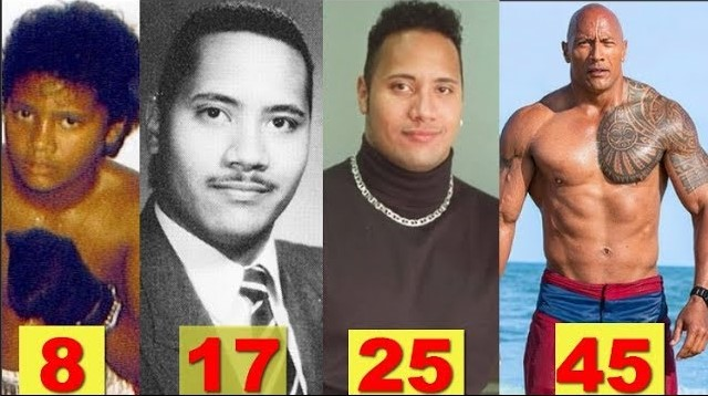 Photo of WWE The Rock ★Transformation From 1 to 45 Years Old★
