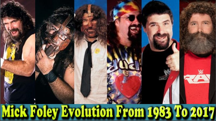 Photo of WWE Mick Foly (Mankind) Evolution From 1983 To 2017