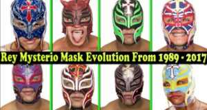 WWE Rey Mysterio (Giant killer) Mask Evolution From 1989 To 2017