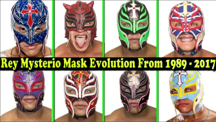 Photo of WWE Rey Mysterio (Giant killer) Mask Evolution From 1989 To 2017