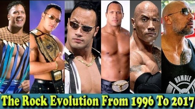 Photo of WWE The Rock (Dwayne Johnson) Evolution From 1996 To 2017