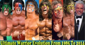 WWE Ultimate Warrior (Jim Justice) Evolution From 1985 To 2014