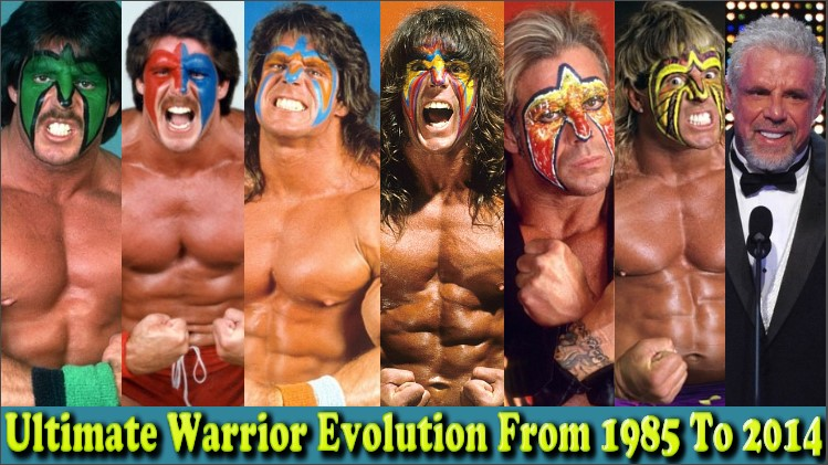 Photo of WWE Ultimate Warrior (Jim Justice) Evolution From 1985 To 2014