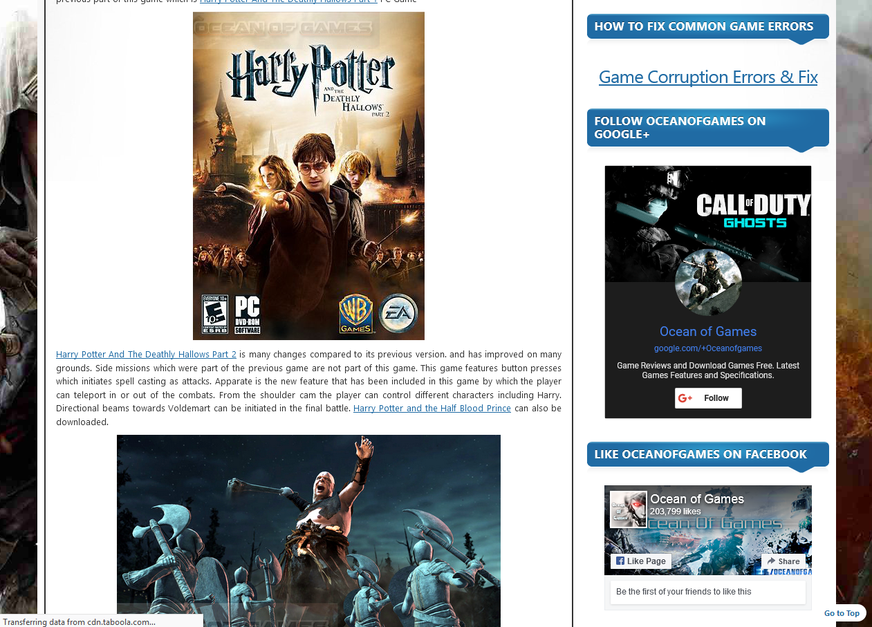 Photo of How to Download Harry Potter and The Deathly Hallows Part 2 From Ocean of Games in Urdu/Hindi