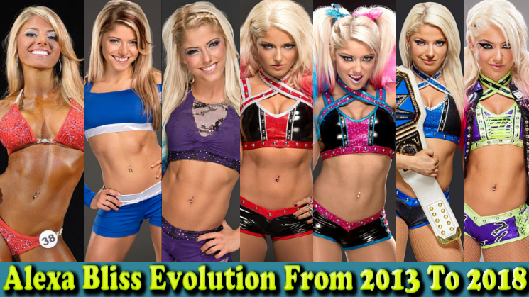 Photo of Alexa Bliss (Little Miss Bliss) Evolution form 2003 to 2018