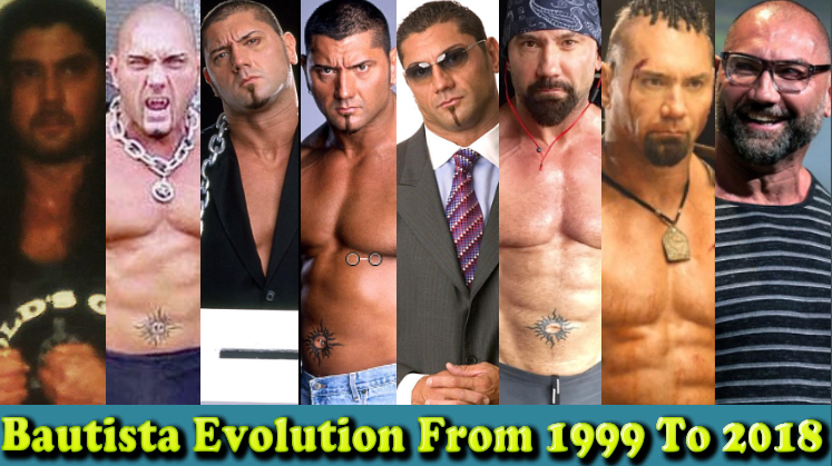 Photo of WWE Bautista (The Animal) Evolution From 1999 To 2018