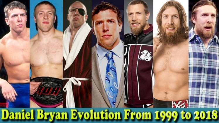 Photo of Daniel Bryan (American Dragon) Evolution From 1999 To 2018
