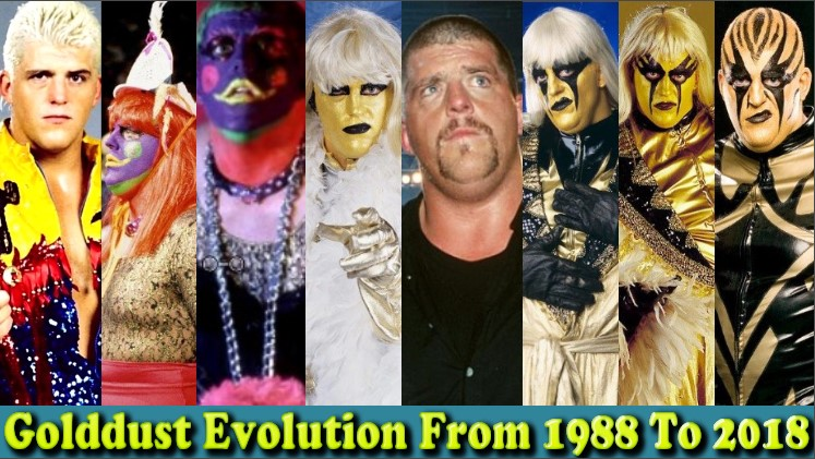 Photo of WWE Goldust (Dustin Rhodes) Evolution From 1988 To 2018