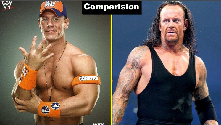 Photo of The Undertaker Vs John Cena Comparison(Biography★Wife★Family★Income★Net Worth★ Finisher)
