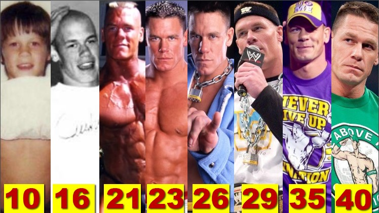 Photo of WWE John Cena ★Transformation From 1 To 41 Years Old★
