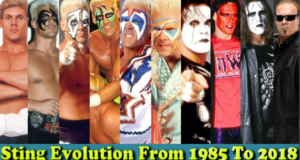 WWE Sting (Flash Borden) Evolution From 1997 To 2018