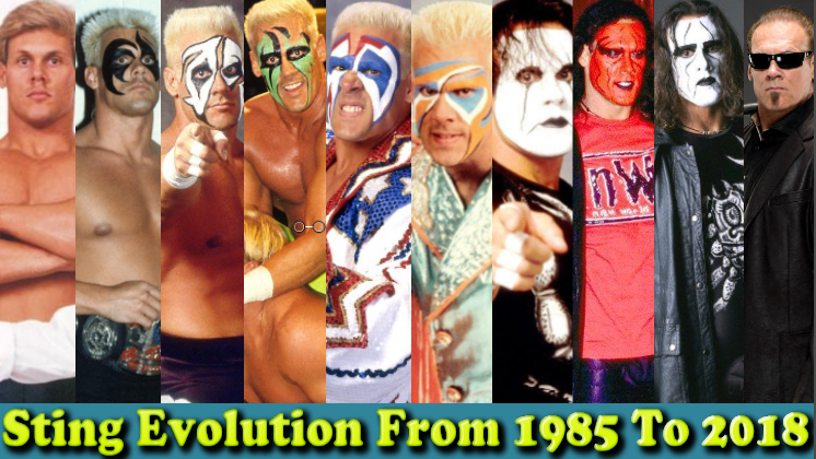Photo of WWE Sting (Flash Borden) Evolution From 1997 To 2018