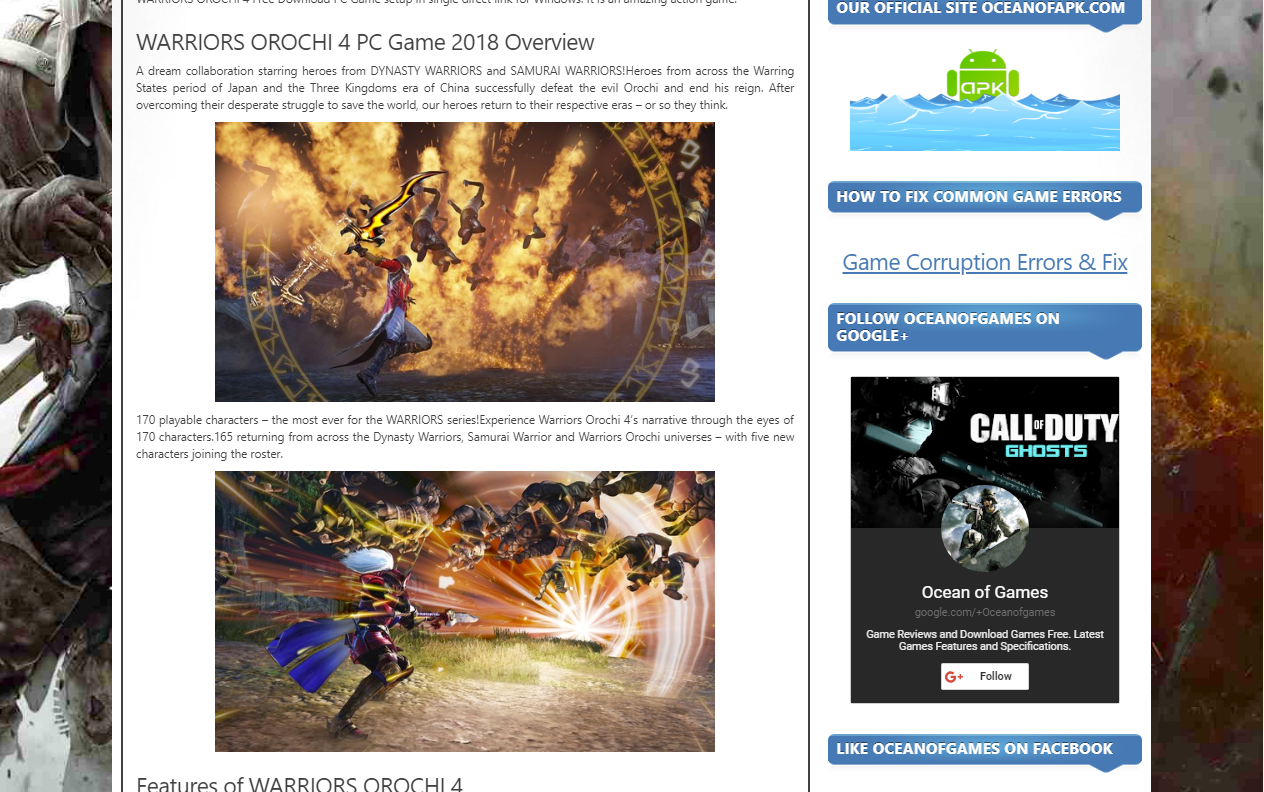 Photo of How to Download Warriors Orochi 4 From ocean of games in Hindi/Urdu