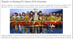 How to Download Shaolin VS Wutang From ocean of games in Hindi/Urdu