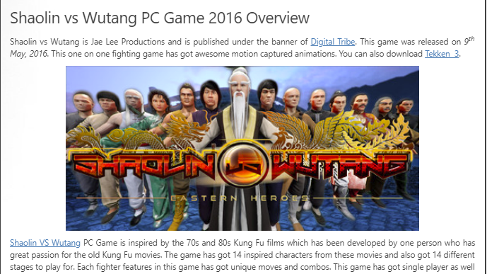 How to Download Shaolin VS Wutang From ocean of games in