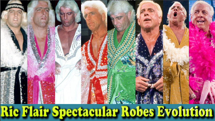 Photo of Ric Flair (Nature Boy) Spectacular Robes Evolution From 1972 To 2012