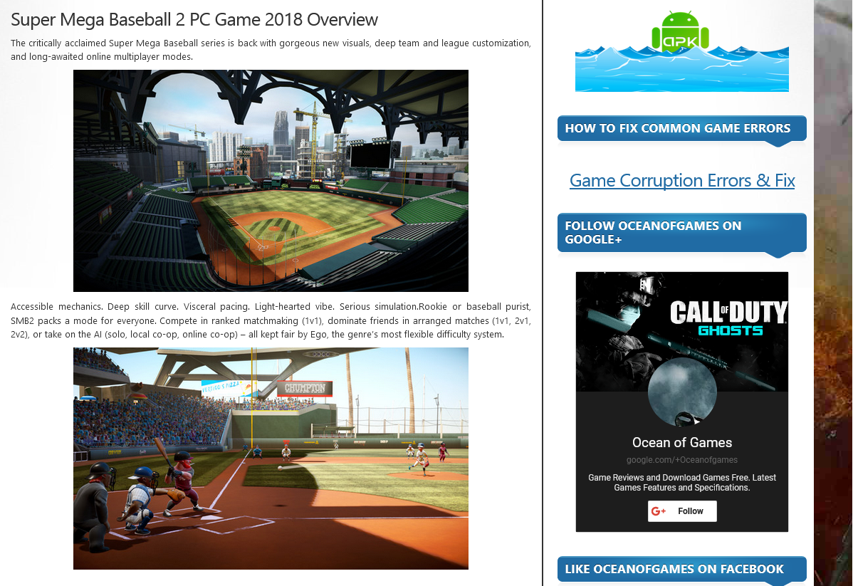 Photo of How to Download Super Mega Baseball 2 From ocean of games in Hindi/Urdu