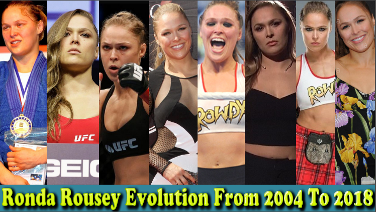 Photo of WWE Ronda Rousey (Arm Collector) Evolution From 2004 To 2018