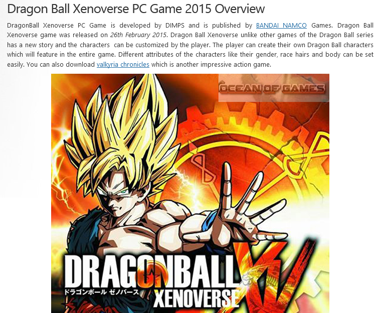 Photo of How To Download Dragon Ball Xenoverse From ocean of games in Hindi/Urdu