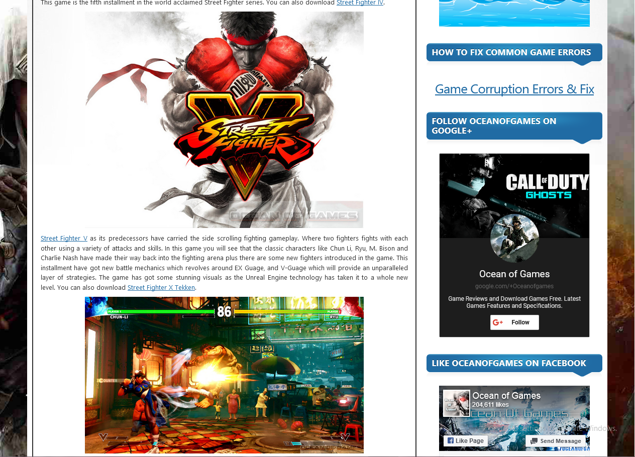 Photo of How To Download Street Fighter 5 from ocean of games in Urdu/Hindi