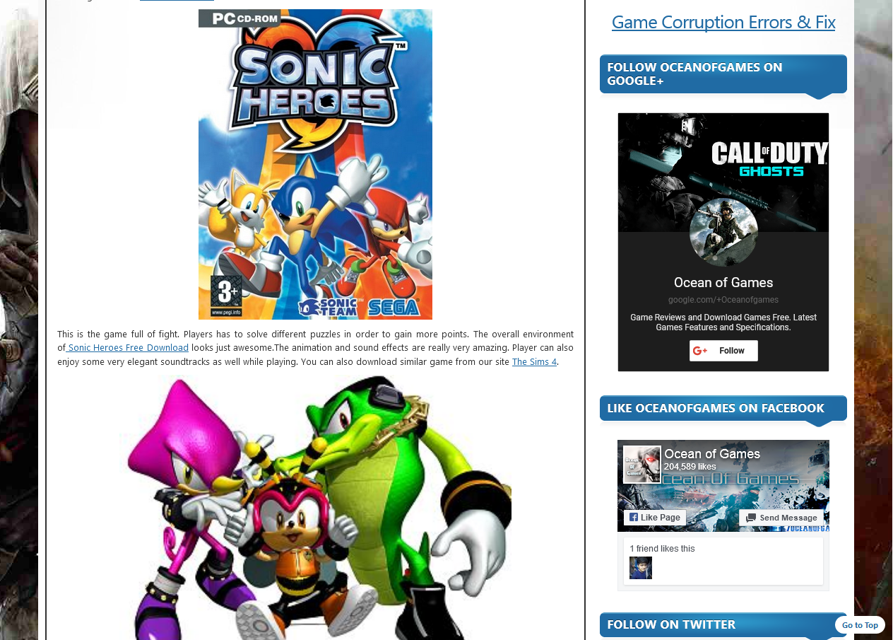 Photo of How To Download Sonic Heroes  From ocean of games in Urdu/Hindi