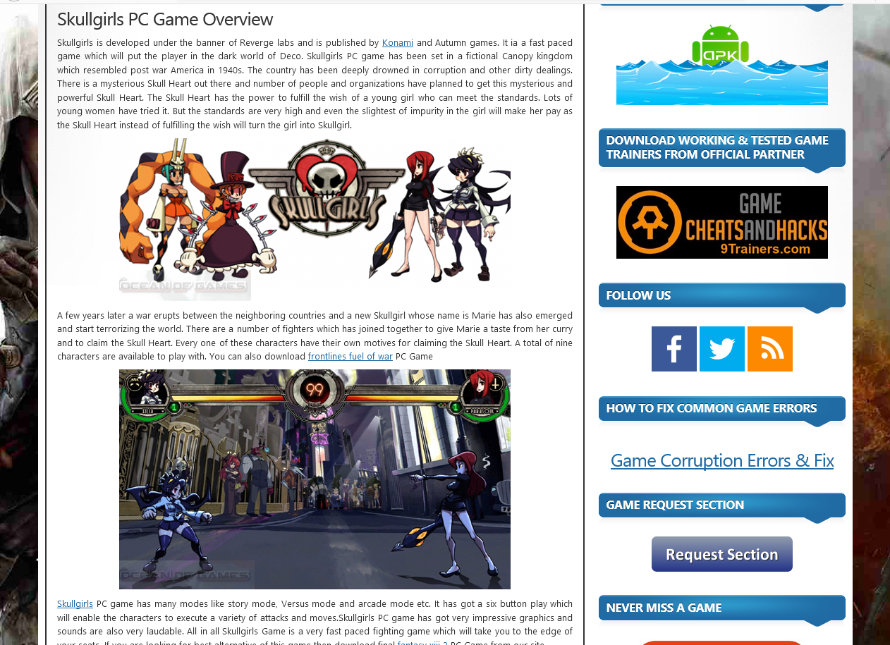 Photo of How To Download Skullgirls  from ocean of games in Urdu/Hindi