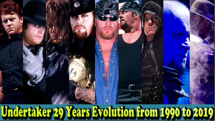 Photo of The Undertaker (Deadman) 29 Years Evolution From 1990 To 2019