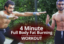 Photo of 4 Minute Non Stop Easy Full Body Fat Burning Workouts for Beginners